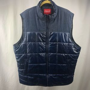 Coleman Mens Quilted Puffer Vest Navy XXL